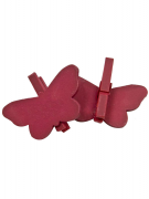 6 farfalle su mollette rosse