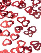 Coriandoli rossi a forma di cuore