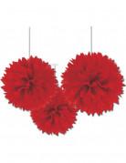 Decorazioni a soffitto a palle rosse