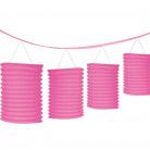 Ghirlanda lanterne rosa