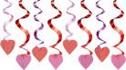 15 sospensioni con cuori rossi