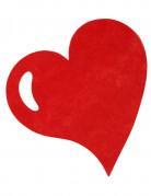 50 set da tavola a forma di cuore di colore rosso