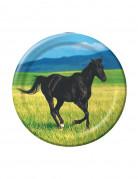 Piccoli piatti in cartone Cavalli Selvaggi 18 cm