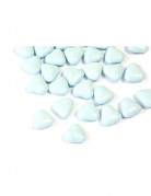 Mini confetti al cioccolato a forma di cuore azzurri