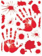 Adesivi raffiguranti tracce di sangue