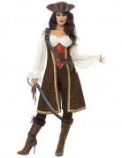 Travestimento pirata donna marrone