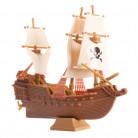 Decorazione in plastica per torta nave dei pirati