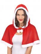 Mantello rosso per costume da Mamma Natale