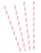 30 Cannucce retrò rosa e bianche