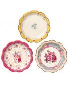 12 piattini in cartone tè tra amiche 17 cm