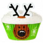 24 pirottini per cupcakes con decorazioni Wilton™ renne di Natale