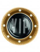 6 Piatti di carta VIP 23 cm