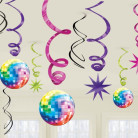 12 addobbi da appendere con palla da discoteca