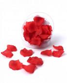 50 petali in tessuto rossi