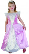 Costume da principessa bianco e rosa bimba