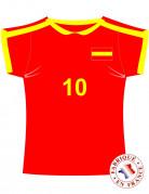 Decorazione maglietta della Spagna