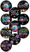 Lotto di tesserini di forma circolare disco