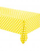 Tovaglia gialla a pois bianchi di 1,37 m x 2,74 m