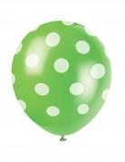 Confezione 6 palloncini a pois bianchi