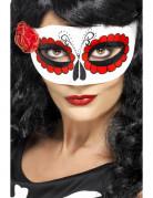Maschera bianca con rosa da donna