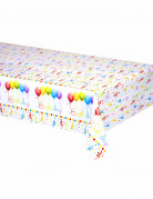 Tovaglia di plastica Happy Birthday da 120 x 180 cm