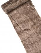 Runner da tavola di finta pelliccia color marrone