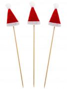 Stecchini da tavola con cappello di babbo Natale