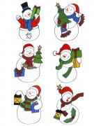 Decorazione per finestre con pupazzo di neve natalizio