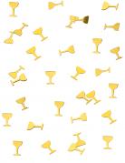Coriandoli da tavola a forma di coppa di champagne