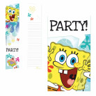 6 Cartoncini per inviti di SpongeBob™