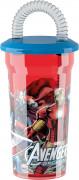 Bicchiere in plastica con cannuccia Avengers™
