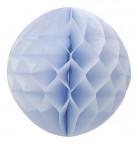 Palla di carta a forma di alveare azzurro cielo 30 cm