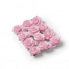 Set di 12 rose di colore rosa per decorazioni