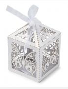 20 scatoline di cartone con farfalle
