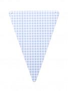 5 Gagliardetti Fai-da-te cartone quadretti blu