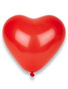 Confezione da 100 palloncini rossi a cuore