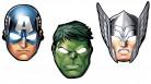 8 maschere di cartone Avengers™