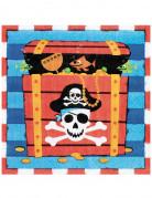 16 tovaglioli di carta Sorriso del Pirata 33 x 33 cm