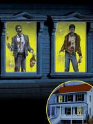 2 decorazioni per finestra con zombie