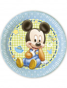 8 Piattini Baby Mickey™di carta