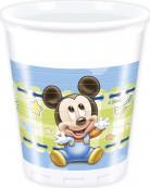 8 Bicchieri di plastica originali Baby Mickey™