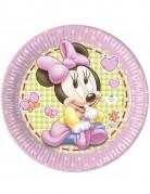 8 Piatti di carta rosa a tema Baby Minnie™