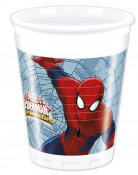 8 Bicchieri di plastica Spiderman™ 200 ml