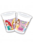 8 bicchieri in plastica delle Principesse Disney