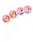 6 Cannucce con medaglione delle Principesse Disney™