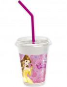 12 Bicchieri con coperchio delle Principesse Disney