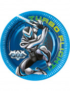 Set di 8 piattini di carta tondi Max Steel™