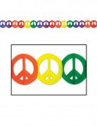 Ghirlanda colorata Peace and love