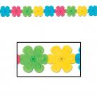 Ghirlanda di fiori di carta multicolor