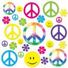 42 decorazioni in cartone Hippie
